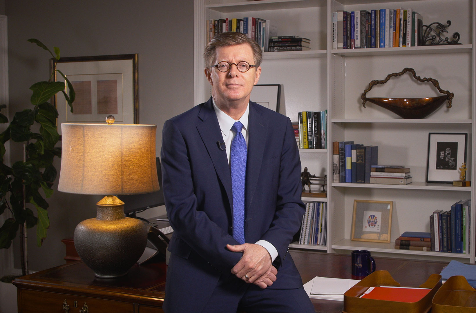 President Price in his office
